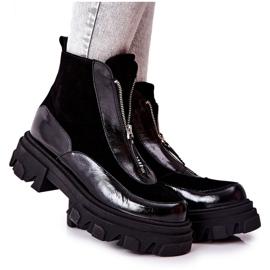 Leren geïsoleerde laarzen Laura Messi Zwart 2371