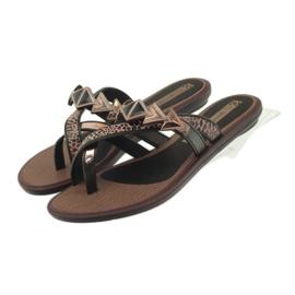 Ipanema bruin Slippers damesschoenen met Grendha-stenen