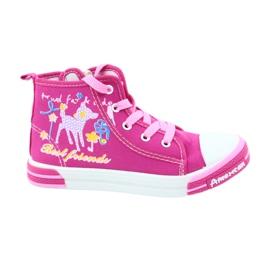 American Club Roze sneakers op de Amerikaanse 13/2014 schuifregelaar