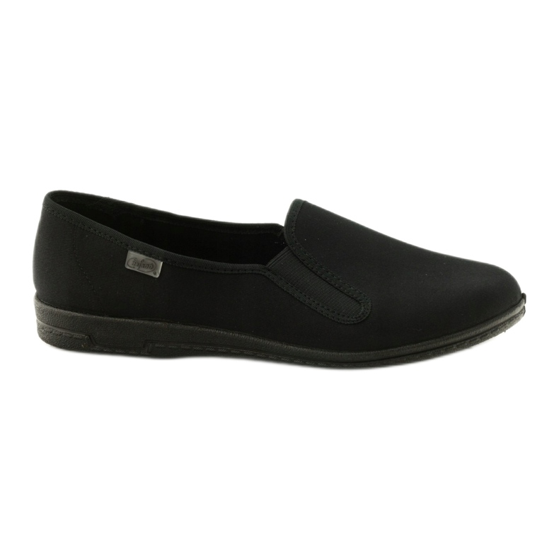 Zwarte slip-on slippers Befado 001M060
