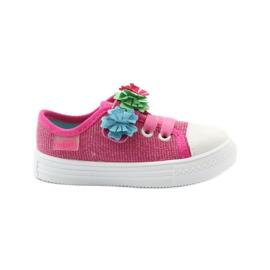 Slippers sneakers Befado bloemen roze
