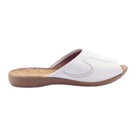 Befado damesschoenen slippers flip 254d058 wit