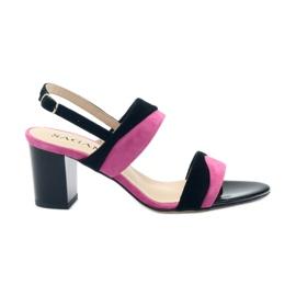 Sandalen voor dames Sagan 2687 zwart fuchsia