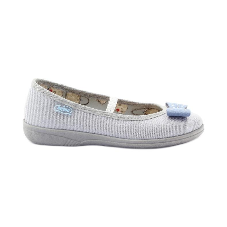Slippers voor meisjes buigen Befado 346x022 grijs blauw
