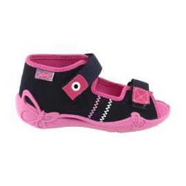 Slippers voor meisjes Velcro Befado 242p056 marineblauw roze