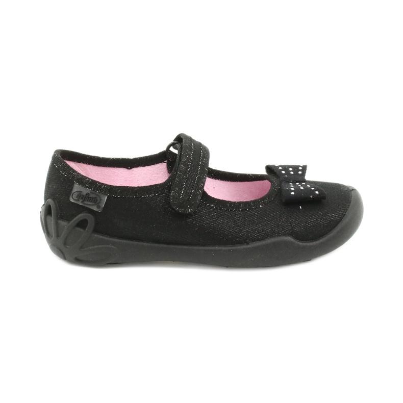 Befado schoenen voor kinderen schoenen ballerina 114x240 zwart zilver