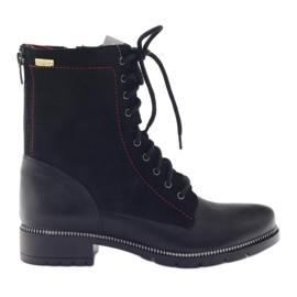 Laarzen damesschoenen Kazkobut 2809 zwart