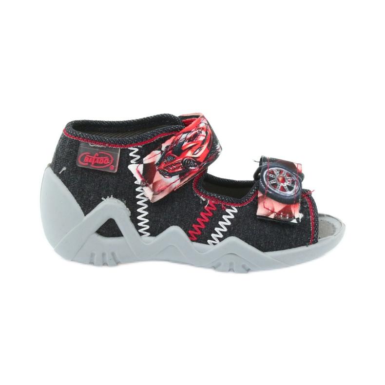 Befado kinderschoenen sandalen 250p055 slippers rood grijs