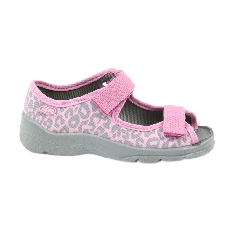 Befado kinderschoenen sandalen slippers 969x092 roze grijs