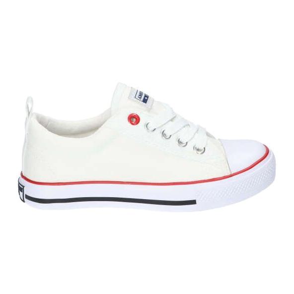 American Club Witte Amerikaanse LH25 geknoopte sneakers