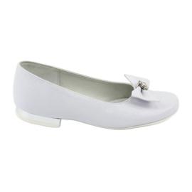 Pompoenen Communie ballerina witte Miko