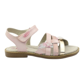 American Club Gladiator sandalen, roze en goud