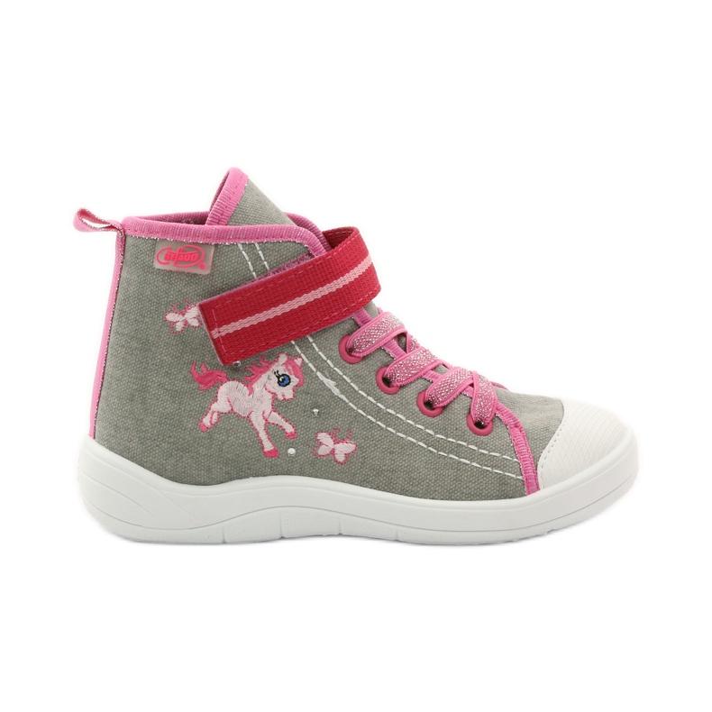 Sneakers slippers Befado konik 268x roze grijs wit
