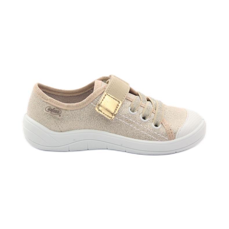 Slippers meisjessneakers Befado 251x071 goud geel wit