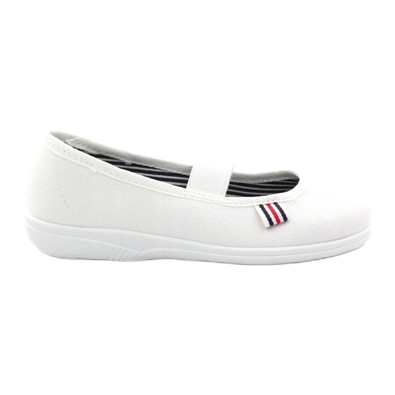 Slippers voor meisjes Befado 274X013 wit