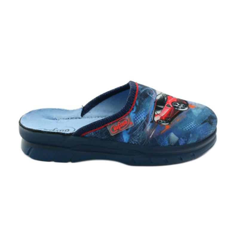 Slippers flip auto Befado 708y001 gr marine rood blauw