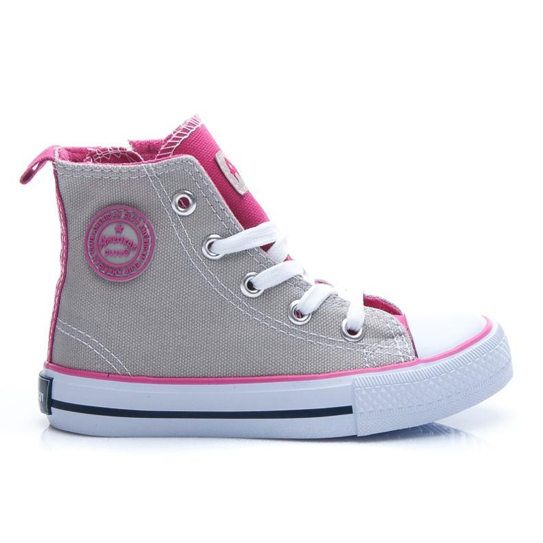 American Club Sneakers voor meisjes grijs