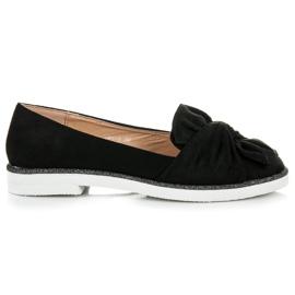 Vices Suède schoenen met glitters decoratie zwart