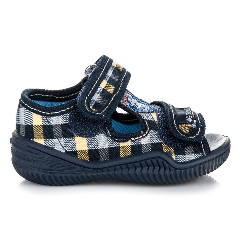 Viggami Geruite schoenen voor jongens blauw