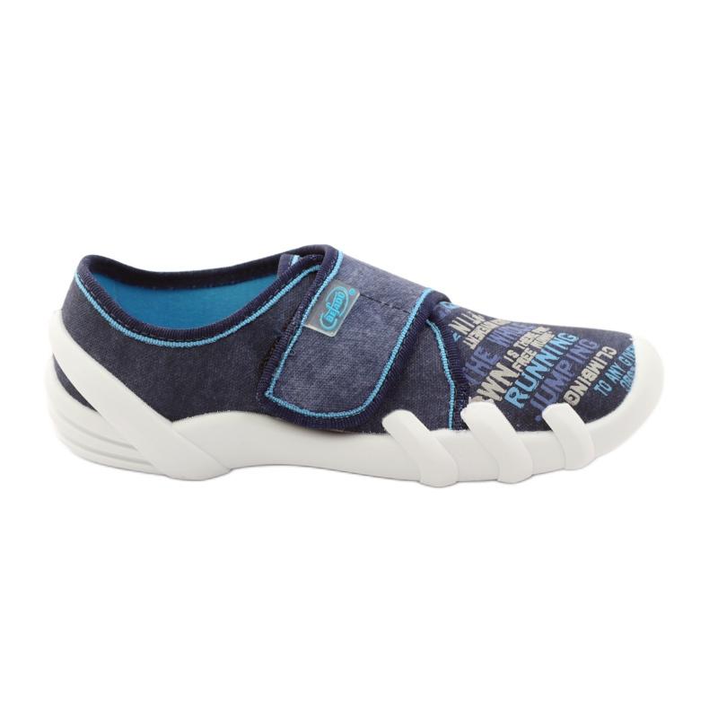 Soft-B Befado 273y214 binnenzoolpantoffels marine blauw