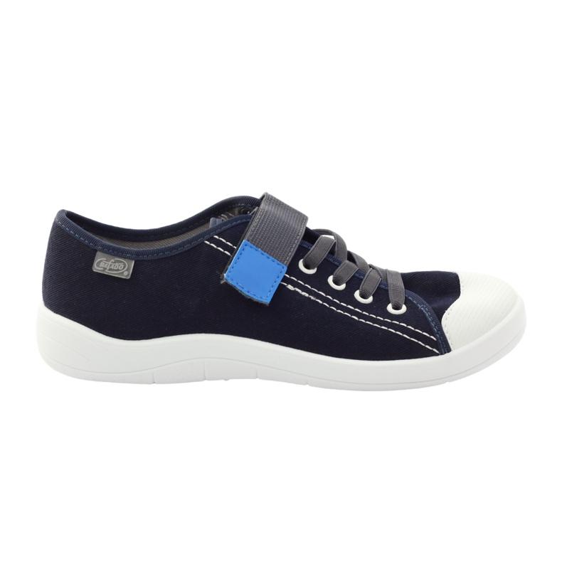Klittenband sneakers Befado 251Y047 marineblauw grijs