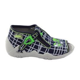 Befado kinderschoenen slippers 217p087 marine groen