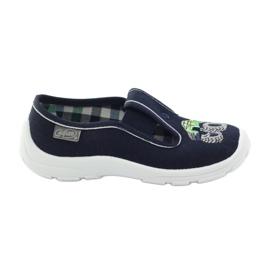 Befado kinderschoenen slippers 975x169 marine groen grijs