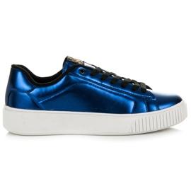 Kylie Sneakers op het platform blauw