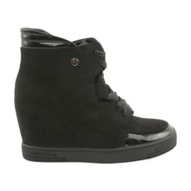 Sergio Leone Laarzen Sneakers met strik zwart
