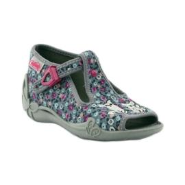 Slippers twee vrouwelijke Befado 213p099 grijs roze