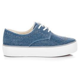 Kylie Sneakers met kristallen blauw