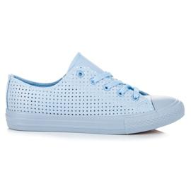 Kylie Opengewerkte sneakers bij binding blauw