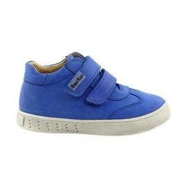 Blauw Jongens schoenen voor Velcro Bartuś