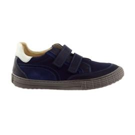 Jongens schoenen, velcro Bartuś, marine blauw