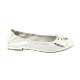 Caprice ballerina's schoenen 22111 zilver grijs
