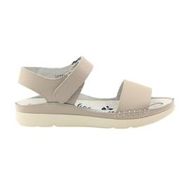 Filippo Comfortabele sandalen met beige velcro bruin