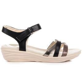 Kylie zwart Sandalen met klittenband
