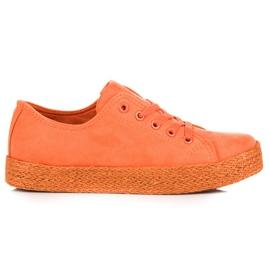 Kylie Orange Sneakers Espadrilles oranje