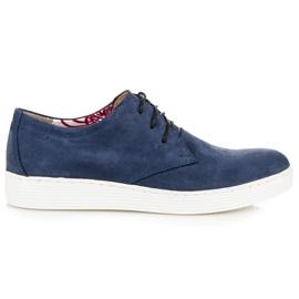 Vinceza blauw Leren wandelschoenen