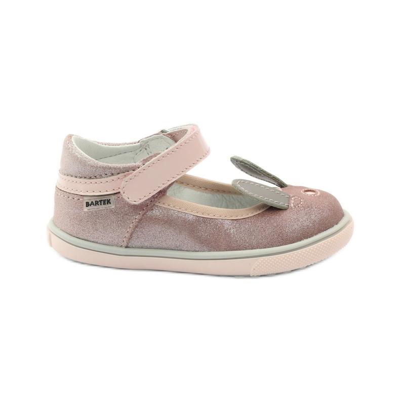 Ballerinki konijn Bartek 31908 roze brokaat