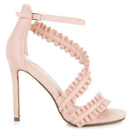 Seastar Sandalen Hoge hakken met een franje roze