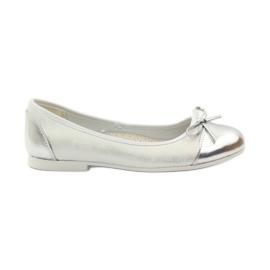 American Club wit Ballerina's schoenen met een Amerikaanse strik