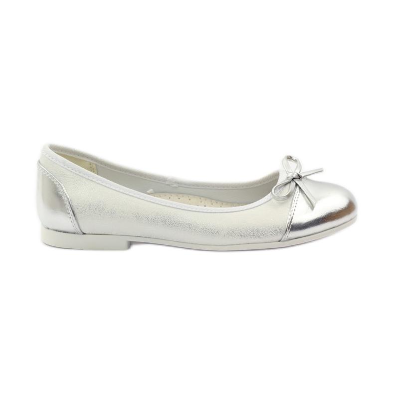 American Club Ballerina's schoenen met een Amerikaanse strik wit