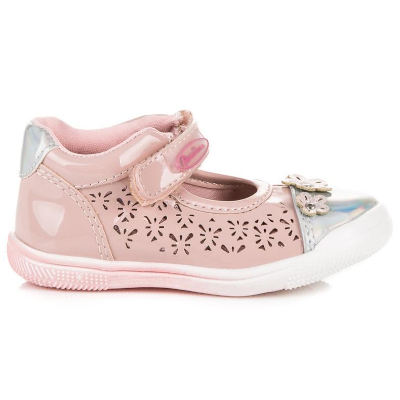 American Club Opengewerkte Amerikaanse schoenen roze