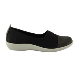 Zwart Zeer comfortabele schoenen Aloeloe slipons