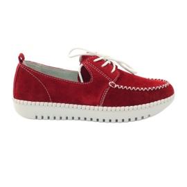 Rood Creepersy lederen schoenen Filippo 020