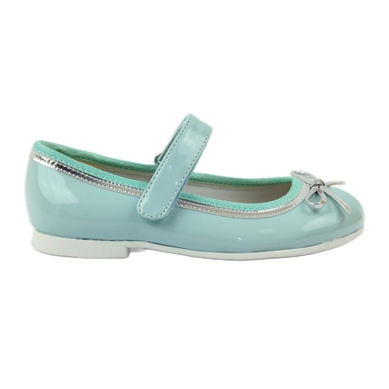 American Club Ballerina's schoenen met een Amerikaanse strik groen