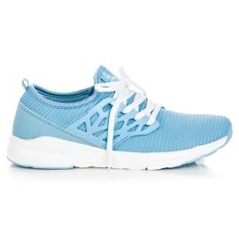 Ax Boxing blauw Slip-on stoffen schoenen