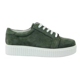 Groen Creepersy lederen schoenen Filippo 036