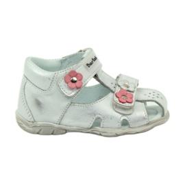 Klittenband sandalen Bartuś 120 zilver grijs